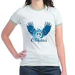 Obama Peace Symbol Jr. Ringer T-Shirt