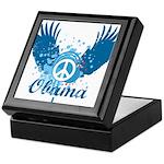 Obama Peace Symbol Keepsake Box