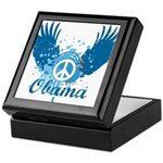 Obama Peace Symbol Keepsake Box