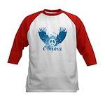 Obama Peace Symbol Kids Baseball Jersey