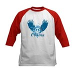 Obama Peace Symbol Kids Baseball Jersey