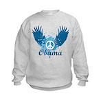 Obama Peace Symbol Kids Sweatshirt