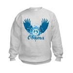 Obama Peace Symbol Kids Sweatshirt