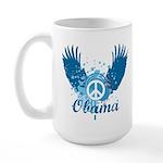 Obama Peace Symbol Large Mug