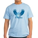 Obama Peace Symbol Light T-Shirt