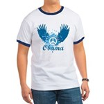 Obama Peace Symbol Ringer T