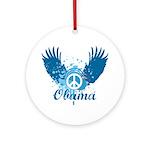 Obama Peace Symbol Ornament (Round)