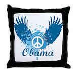 Obama Peace Symbol Throw Pillow