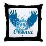 Obama Peace Symbol Throw Pillow