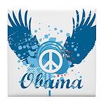 Obama Peace Symbol Tile Coaster