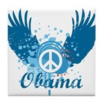 Obama Peace Symbol Tile Coaster