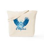 Obama Peace Symbol Tote Bag