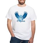 Obama Peace Symbol White T-Shirt