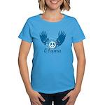 Obama Peace Symbol Women's Dark T-Shirt