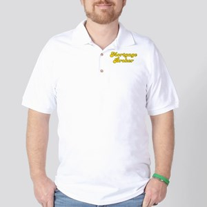 Retro Mortgage br.. (Gold) Golf Shirt