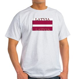 Latvia Latvian Flag Ash Grey T-Shirt