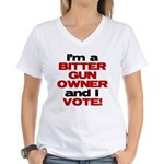Bitter Gun Owner Women's V-Neck T-Shirt