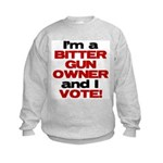 Bitter Gun Owner Kids Sweatshirt