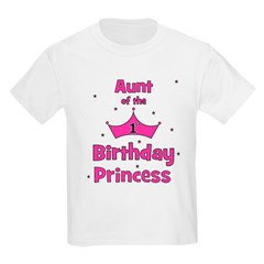 Aunt of the 1st Birthday Prin T-Shirt
