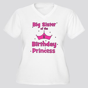 Big Sister of the 1st Birthda Women's Plus Size V-