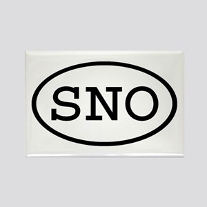 SNO Oval Rectangle Magnet