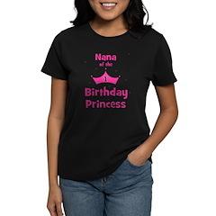 Nana of the 1st Birthday Prin Women's Dark T-Shirt