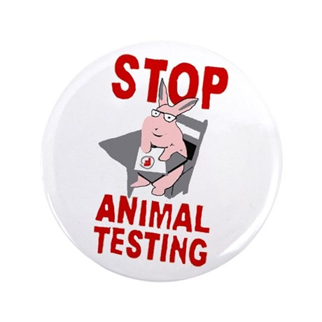 "Stop Animal Testing 3.5"" Button"