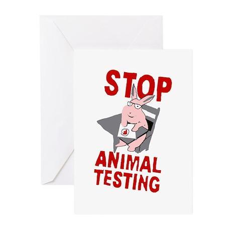 Stop Animal Testing Greeting Cards (Pk of 20)