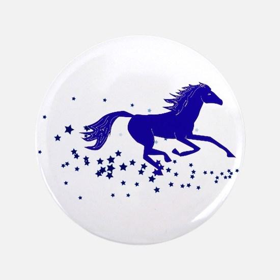 "Blue Stars Pony 3.5"" Button"