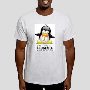 Leukemia Penguin Orange Light T-Shirt