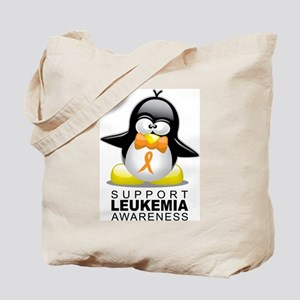 Leukemia Penguin Orange Tote Bag