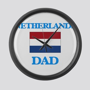 Netherlands Dad Large Wall Clock