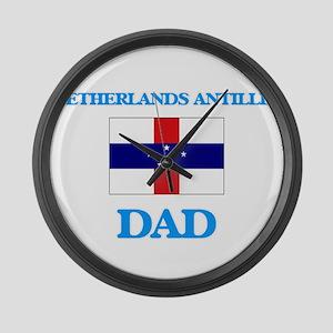 Netherlands Antilles Dad Large Wall Clock