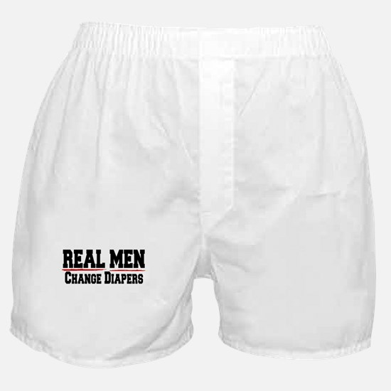 REAL MEN CHANGE DIAPERS (DADDY GIFT) Boxer Shorts