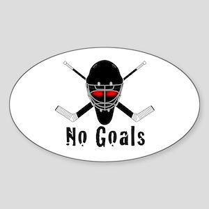 NoGoals Oval Sticker