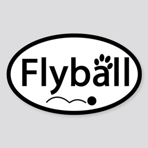 Flyball Oval Sticker