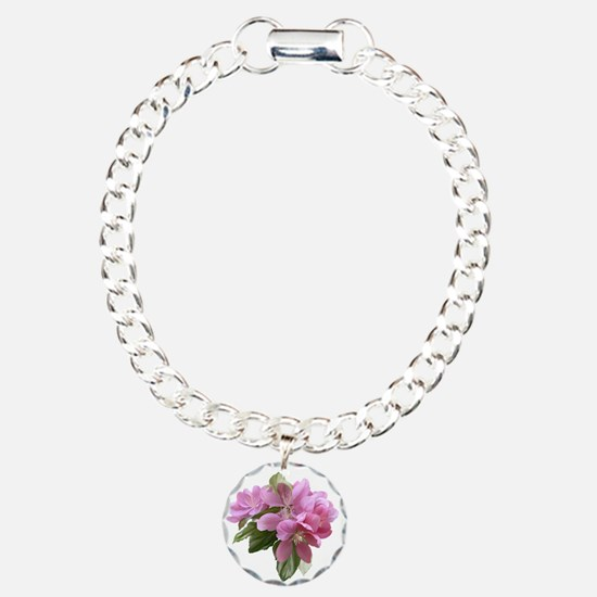Unique Flower Charm Bracelet, One Charm
