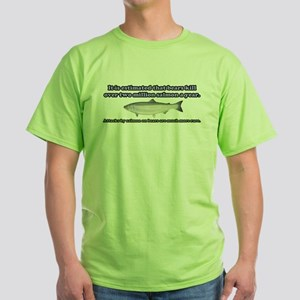 Salmon Attack Green T-Shirt