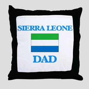 Sierra Leone Dad Throw Pillow