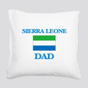 Sierra Leone Dad Square Canvas Pillow