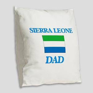 Sierra Leone Dad Burlap Throw Pillow