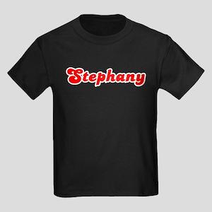 Retro Stephany (Red) Kids Dark T-Shirt