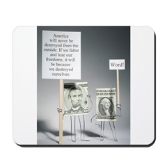 Abe and George Mousepad