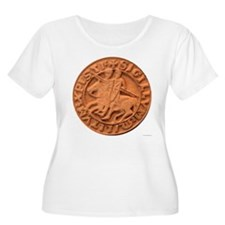 Wax Templar Seal Women's Plus Size Scoop Neck T-Sh