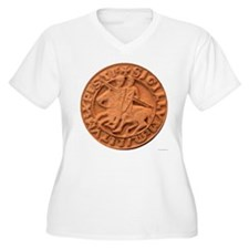 Wax Templar Seal Women's Plus Size V-Neck T-Shirt