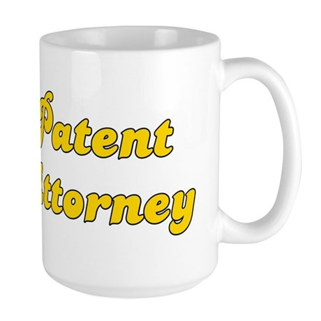 Retro Patent atto.. (Gold) Large Mug