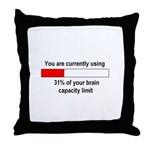 BRAIN CAPACITY LIMIT Throw Pillow