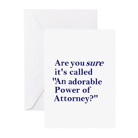 Power of Attorney Greeting Cards (Pk of 20)