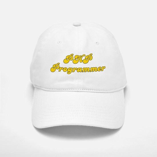Retro PHP Program.. (Gold) Baseball Baseball Cap