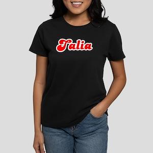 Retro Talia (Red) Women's Dark T-Shirt
